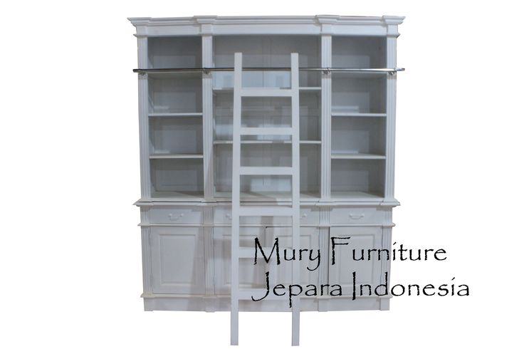 #Beautiful Bookcase #French Furniture #White Furnitue