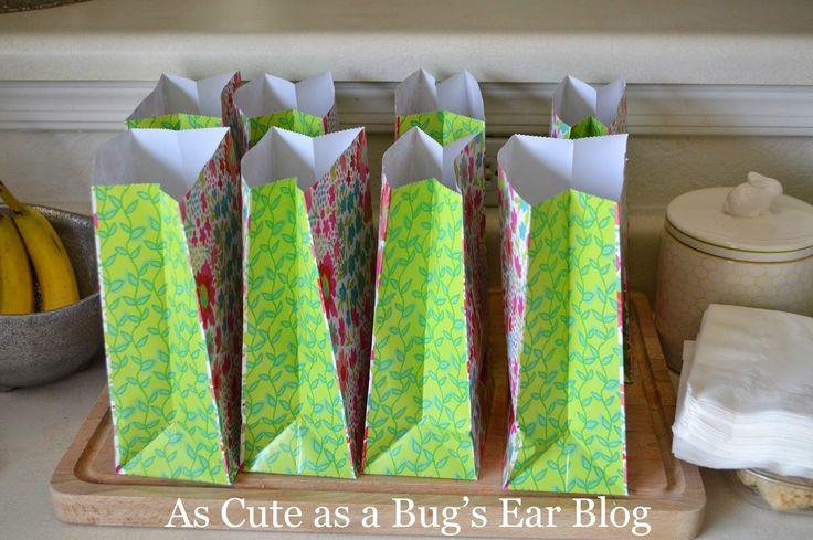 Simple Gift Bags  #babygirl #birthday #shabby #chic