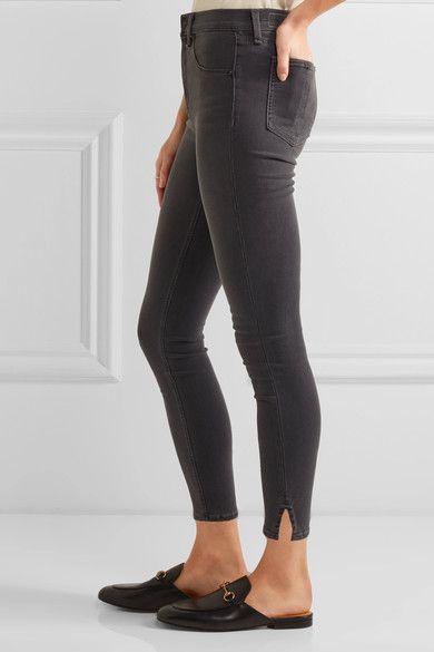 rag & bone - The Capri Cropped High-rise Skinny Jeans - Gray - 27