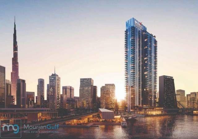 فى قلب الخليج التجارى برج سكنى غايه فى الرقى على قناه دبي المائيه شقق واسعه المساحه ذو تصميم هندسى رفيع المستوى مع ا New York Skyline Skyline New York