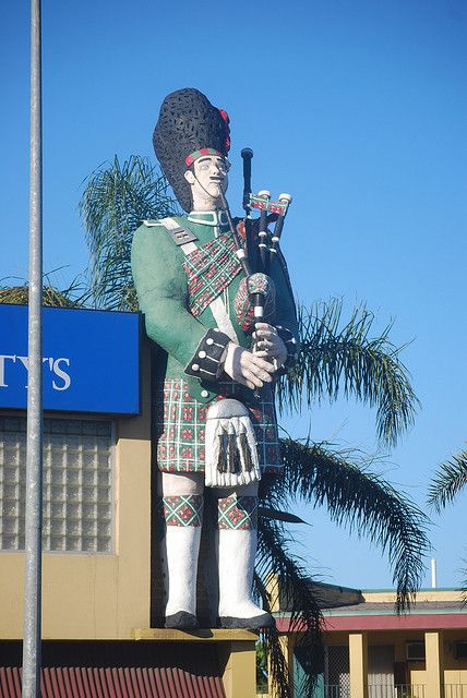 Giant Scotsman - Adelaide by Jade Craven, via Flickr • aussie big things • the first Aussie big thing! • in South Australia • Adelaide city icon