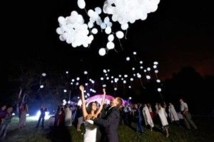 LED balloon wedding send off? Sparklers are banned at Noahs!