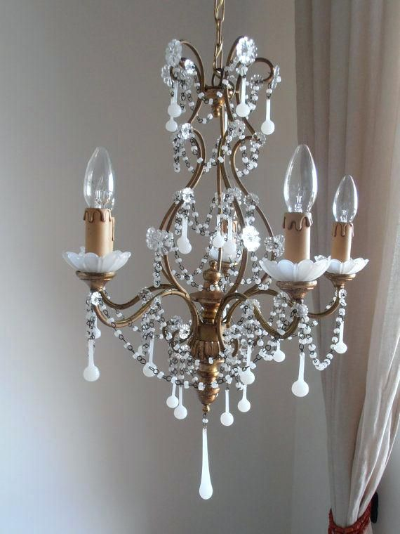 Painted Crystal Wood Finial Chandelier Beautiful Chandelier Unique Chandeliers Chandelier