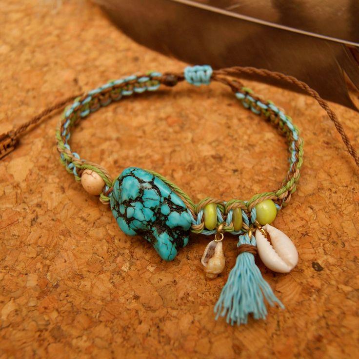 macrame boho bracelet, natural jewelry, stone bracelet, macrame, boho style, bransoletka boho, bransoletka makrama