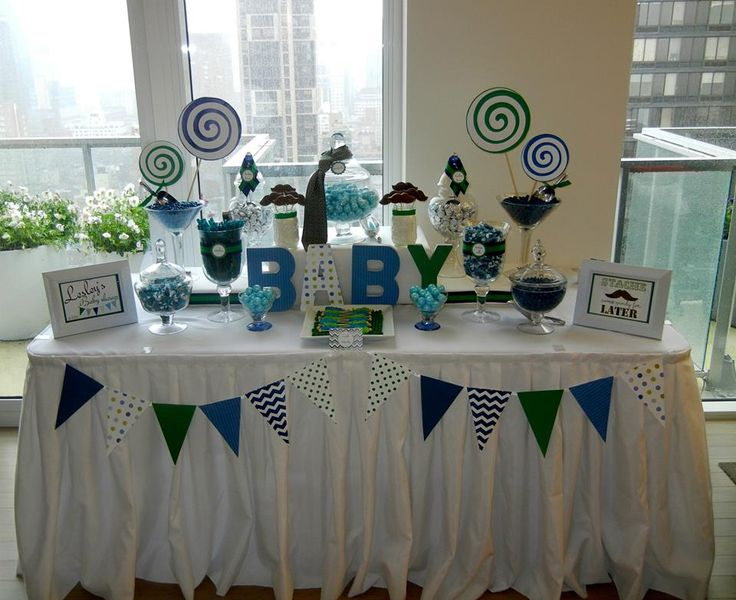 Blue Baby Shower Candy Buffet Part - 16: Baby Shower Candy Table Blue And Green | Candy Bars | Pinterest | Baby  Shower Candy Table, Baby Shower Candy And Candy Table