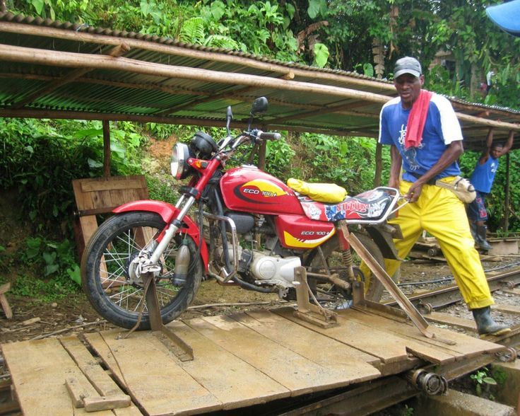 Motorcycle powered rail transporation