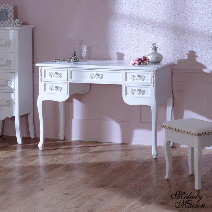 Antique White Dressing Table Desk - Pays Blanc Range
