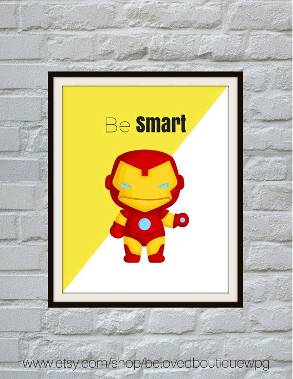 Superhero Print Set Superhero Wall Art Boys by belovedboutiquewpg