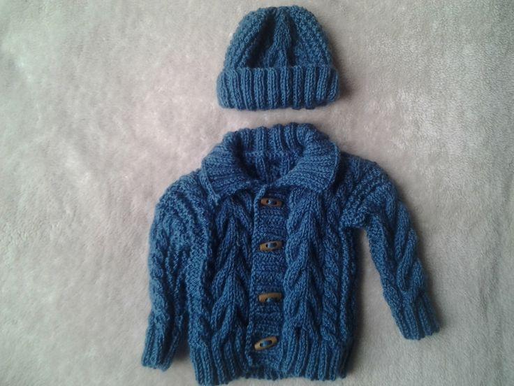 irish boy sweater, baby boy sweater, irish boy hat, baby irish sweater, irish boy sweater and hat 3-6 months, aran sweater by crochetfifi on Etsy https://www.etsy.com/listing/223483524/irish-boy-sweater-baby-boy-sweater-irish