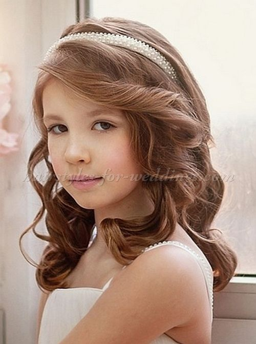 Flower Girl Hairstyle With Headband Flower Girl