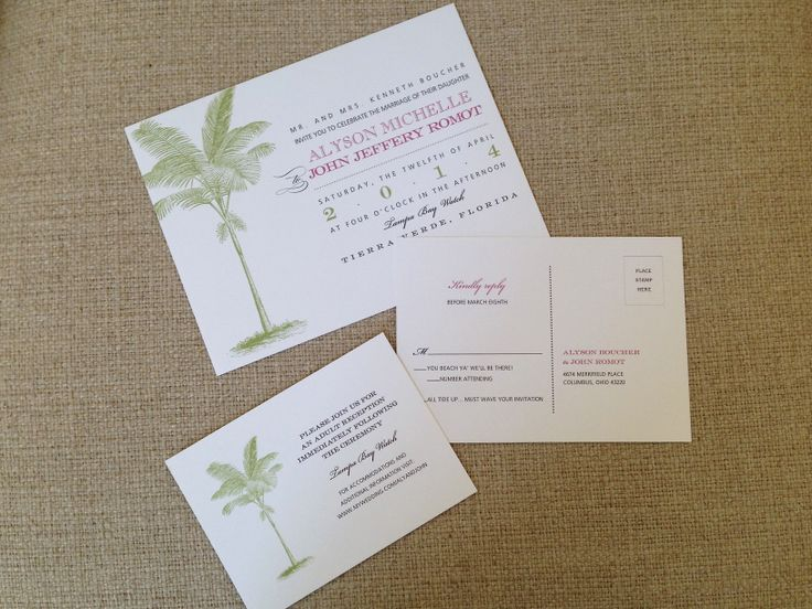 Having A Destination Wedding? This Wedding Invitation Is A Great Combo Of  Casual, Fun. Columbus OhioDestination ...