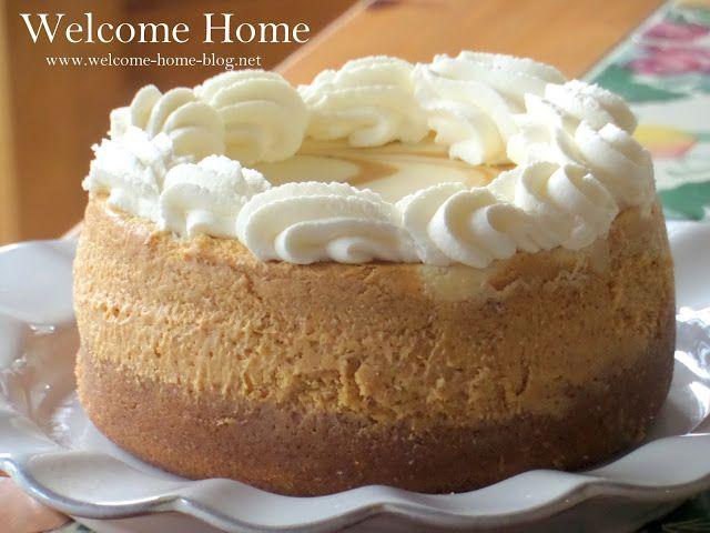 Welcome Home Blog: ♥  Pumpkin Swirl Cheesecake