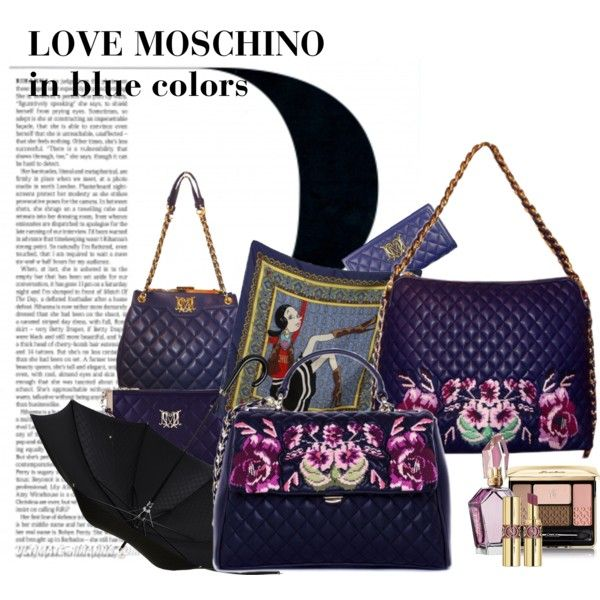 """""""Love Moschino meets the fall with Navy colors!"""" by vogmoda on Polyvore"""