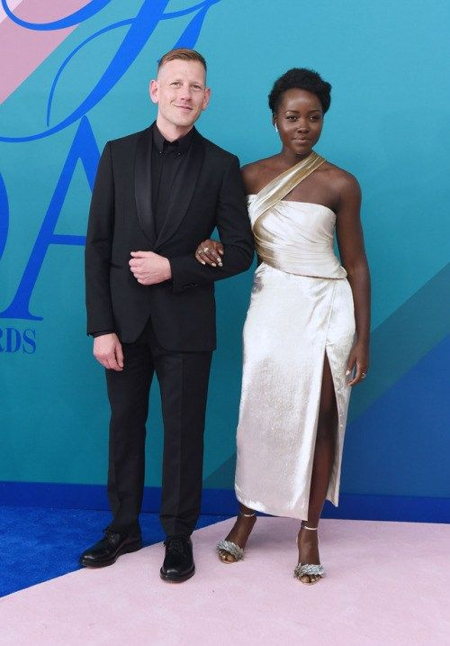 celebsofcolor: Paul Andrew and Lupita Nyongo attend the 2017