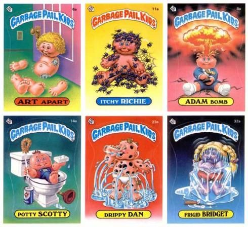 Garbage Pail Kids..gross..but COOLCabbages Patches Kids, 80S, Trade Cards, Schools, Kids Cards, Childhood Memories, Stickers, Toys, Garbage Pail Kids