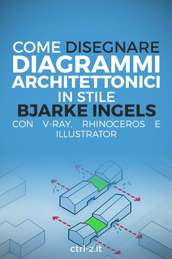 Un tutorial in 4 passaggi per realizzare diagrammi di architettura Bjarke Ingels style usando Rhinoceros, V-Ray e Illustrator.
