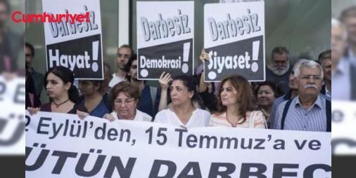Taksim'de #12Eylül protestosu: 78'liler Vakfı öncülüğünde bir araya gelen çeşitli siyasi parti, dernek ve sivil toplum örgütü üyesi yaklaşık 50 kişilik grup, Taksim'deki Kazancı yokuşunda toplandı.