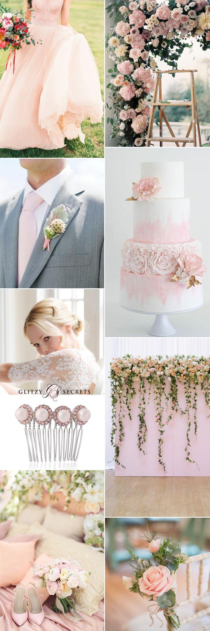 Pastel pink wedding ideas on GS Inspiration - Glitzy Secrets