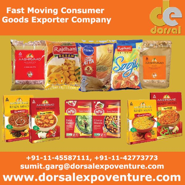 Are you looking Best FMCG Products Exporters Company? Fast Moving Consumer Goods by Dorsal Expoventure Pvt Ltd, Delhi India