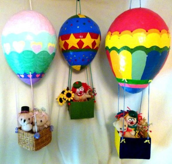 Marvelous Paper Mache Craft Ideas For Kids Part - 10: How To Make A Paper Mache Hot Air Balloon