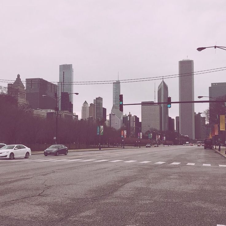 Streets are empty      #chicago #chitown #cold #wind #city #illinois #state #america #thanksgiving #break #college #student #from #prague #street #photography #light #skyscrapers #urban #artistic