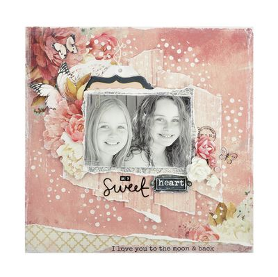 'Sweet' layout. Inspired by the 'Ma Cherie' Collection from Kaisercraft - available at www.crafterspalette.co.uk ~ Wendy Schultz ~ Scrapbook Layouts.
