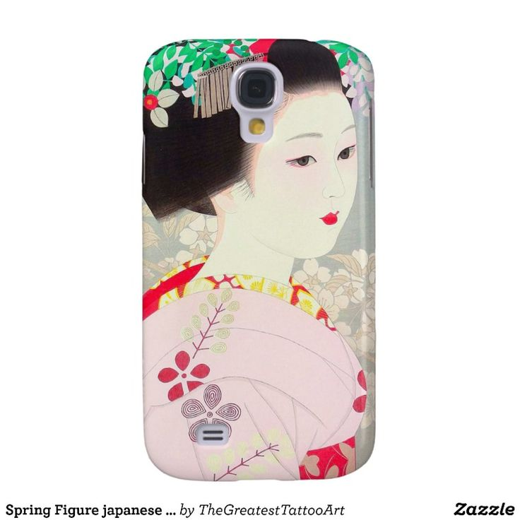 Spring Figure japanese lady woman Kato Shinmei Galaxy S4 Cover