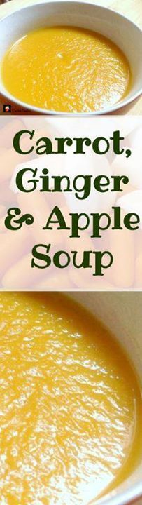 Carrot Ginger & App Carrot Ginger & Apple Soup Easy...  Carrot Ginger & App Carrot Ginger & Apple Soup Easy recipe with wonderful flavors. Recipe : http://ift.tt/1hGiZgA And @ItsNutella  http://ift.tt/2v8iUYW