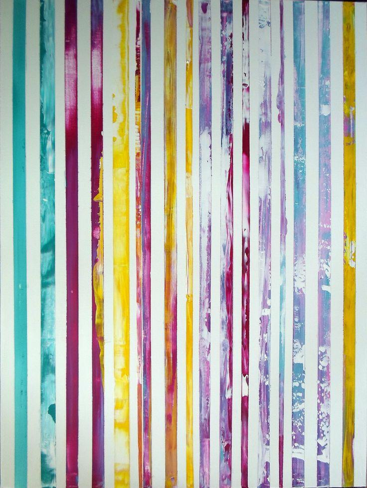 Rainbow 2 acrilico su tela 70x100 anno di esecuzione 2015 Chi desidera vedere l'arcobaleno, deve imparare ad amare la pioggia. Paulo Coelho