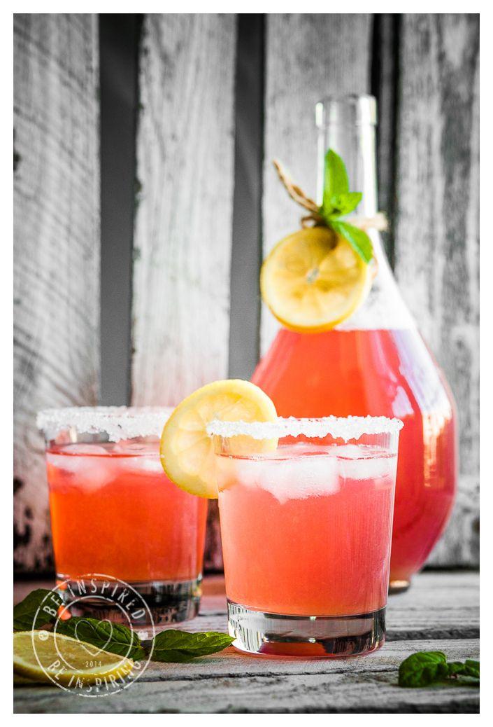 rhubarb drink, rhubarb and lemon drink, lemonade, kompot z rabarbaru, lemoniada z rabarbarem