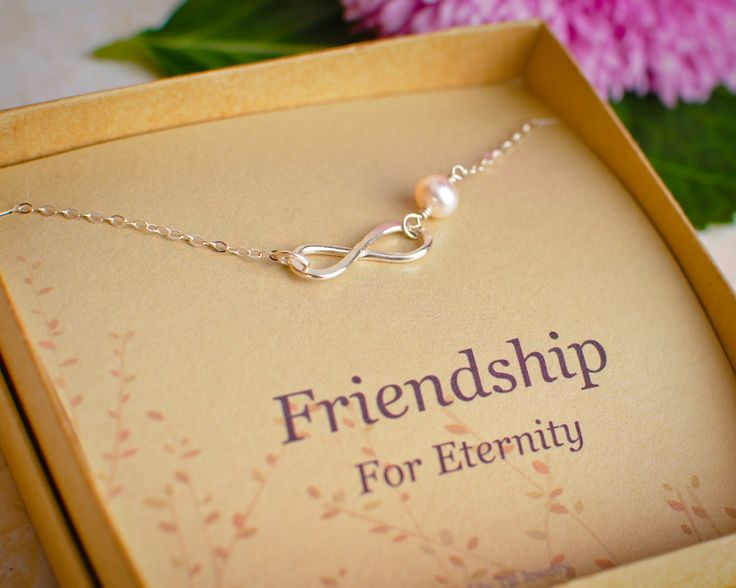 We love this timeless Efy Tal Jewelry necklace that signifies the bond you share with your friend now and forever.   The cultured pearl makes it extra special!  Comes beautifully gift wrapped and ready for gift giving.  Being sold on Amazon.