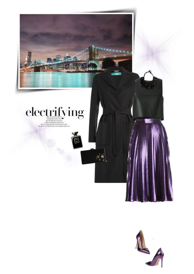 """""""NY City Nights (Top Fashion Sets for Jan 29th, 201)"""" by sophiek82 ❤ liked on Polyvore featuring Valentino, Fendi, Gucci, Edie Parker, Monies, Gianvito Rossi, women's clothing, women, female and woman"""