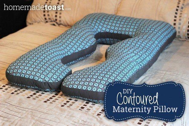 DIY uma de corpo inteiro, maternidade travesseiro com contornos.
