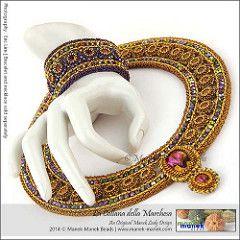 La Collana della Marchesa (Il Manek Lady) Tags: collana di perline swarovski collare tessitura chaton lunetta Craw maneklady