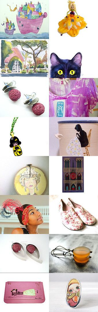 a colorful boat full of spring gift ideas by Paola Fornasier on Etsy--Pinned with TreasuryPin.com