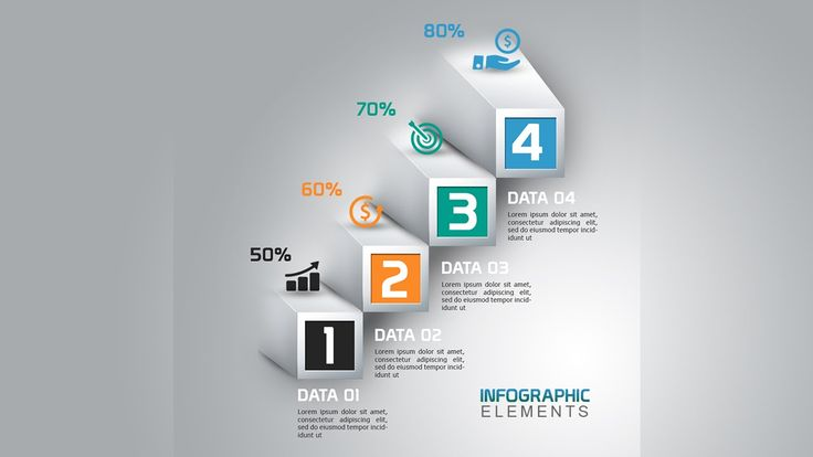 How To Create 3D Abstract Bar Chart Infographic In Photoshop
