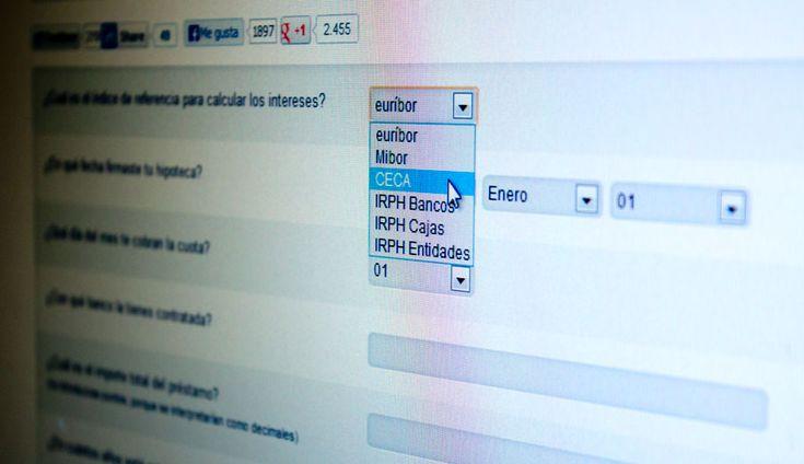 Nuestro simulador #micláusulasuelo ahora también realiza los cálculos para hipotecas referenciadas al Mibor, el CECA y los tres índices IRPH (Cajas, Bancos y el Conjunto de Entidades)