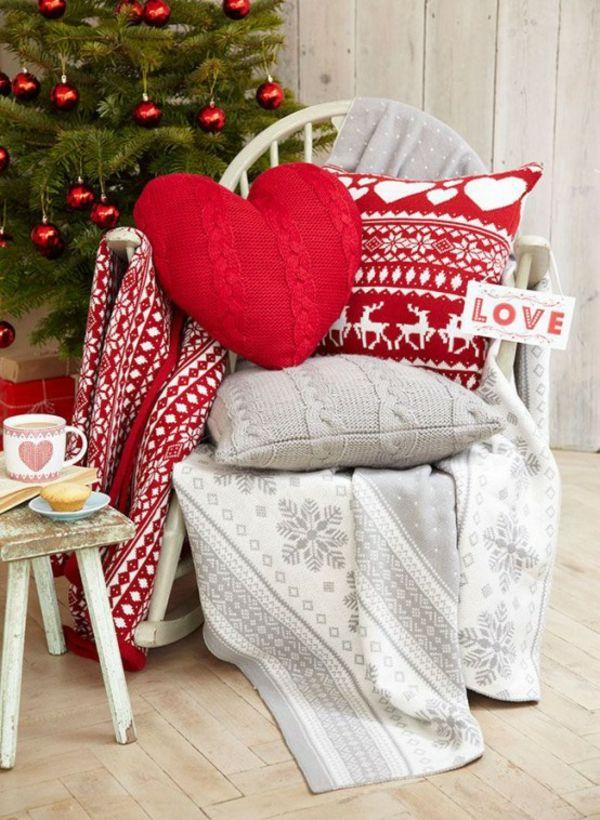 bastelideen f r weihnachten k nnen sie stricken skandinavischer weihnachtsschmuck