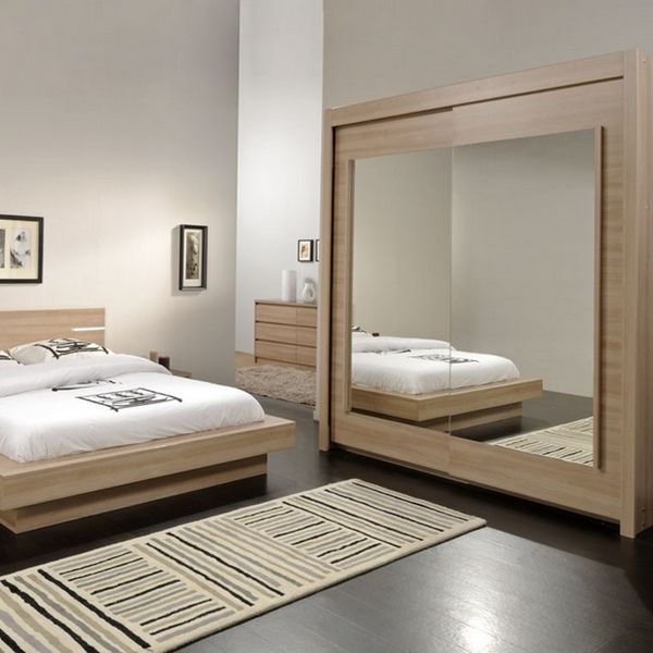 Armoire dressing osaka aspect bruges portes for Armoire miroir chambre