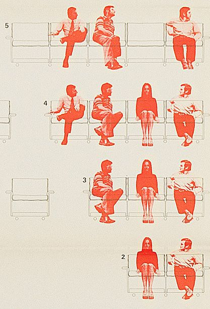 From the Vitsoe Furniture design archive, 1972: 620 Chair Programme poster by Wolfgang Schmidt.