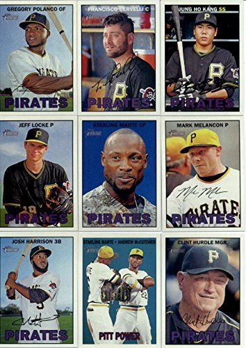 2016 Topps Heritage Pittsburgh Pirates Team Set of 14 Cards: Gregory Polanco(#10), Francisco Cervelli(#41), Jung Ho Kang(#44), Jeff Locke(#55), Starling Marte(#140), Mark Melancon(#156), Josh Harrison(#256), Starling Marte/Andrew McCutchen(#266), Clint Hu for USD10.95 #Pittsburgh  Like the 2016 Topps Heritage Pittsburgh Pirates Team Set of 14 Cards: Gregory Polanco(#10), Francisco Cervelli(#41), Jung Ho Kang(#44), Jeff Locke(#55), Starling Marte(#140), Mark Melancon(#156), Josh…