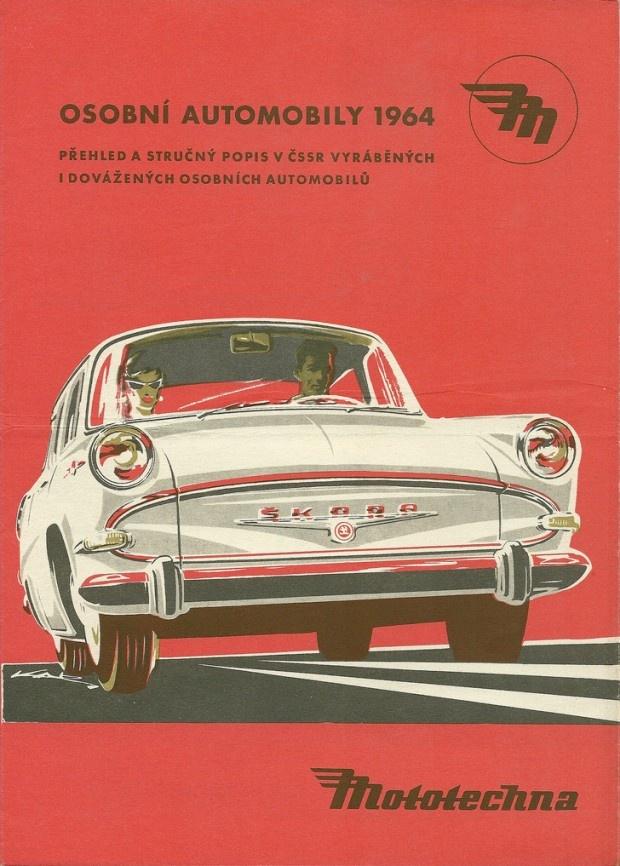 Skoda car poster, Czechoslovakia