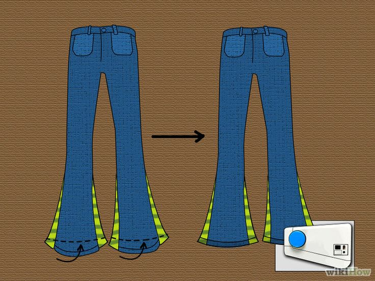 DIY flare or bell-bottom pants