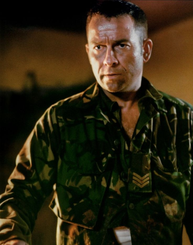 Sean Pertwee as Sargent Wells from Dog Soldiers, a kickass soldier movie with werewolves in it. :D