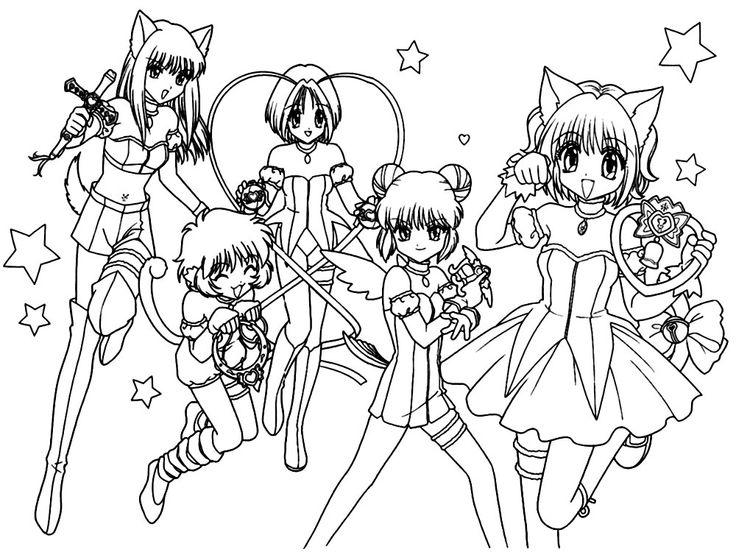 Resultado de imagen para dibujos para colorear anime japones