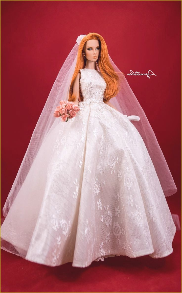 Baby Doll Wedding Dresses Awesome 361 Best Barbie Doll Bridal Gowns Amp Dresses 2 Images On Pinterest Of Barbie Wedding Dress Doll Wedding Dress Barbie Bridal
