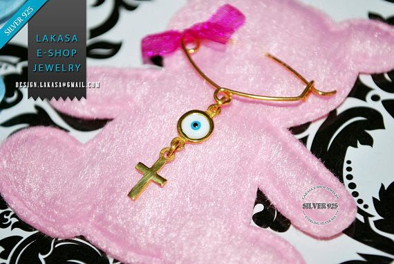 BEST Price Cross Enamel Eye Baby Brooch Sterling Silver Handmade Kids Jewelry Mother Happy Shower Day Religious Baptism Newborn It is a Girl #baby #girl #enamel #brooch #silver #jewelry #cross #motherday #personalised #joyas #mujer #woman #moda #jewellery #γυναικα #μωρο #νεογεννητο #δωρο #παραμανα #καρφιτσα #κοριτσι #σταυρος #smalto #plata #nina