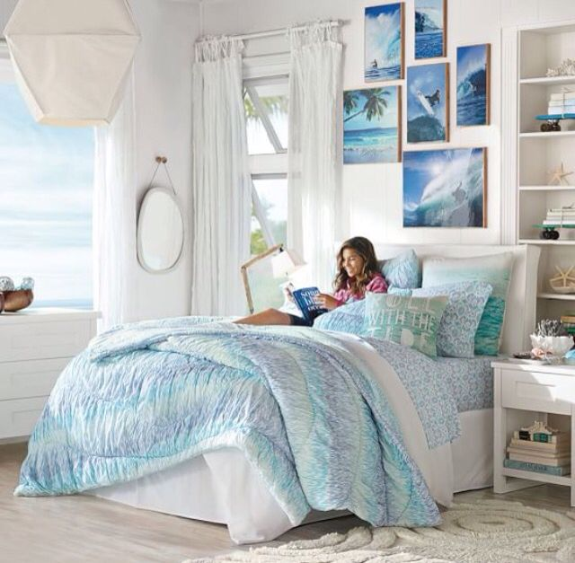 The 25+ Best Beach Themed Bedrooms Ideas On Pinterest | Beach Themed Rooms, Beach  Bedroom Decor And Ocean Bedroom
