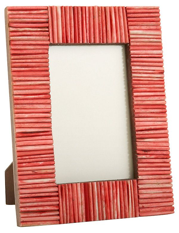 Matchstick Frame, 4x6, Red | Eye-Catching Vignettes | One Kings Lane