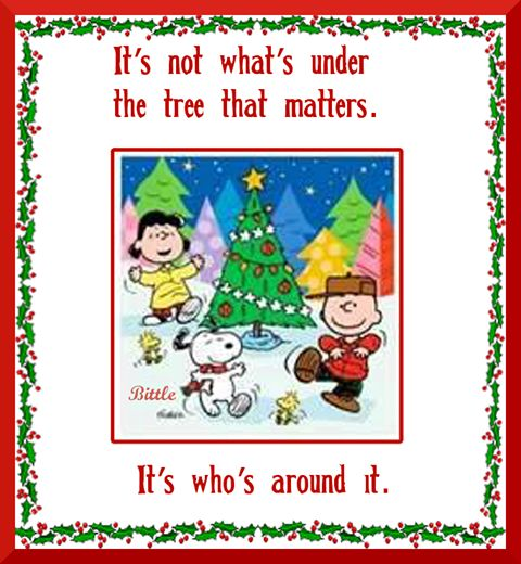 Its not whats under the tree charlie brown snoopy christmas xmas merry christmas christmas quotes christmas quote christmas peanuts